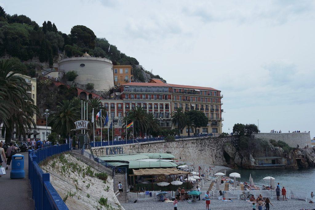 Château Nice et la plage